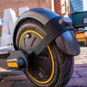Your Kickscooter's rear fender is going to experience wear and tear. Protect it with the Kickscooter Max Rear Fender Brace.